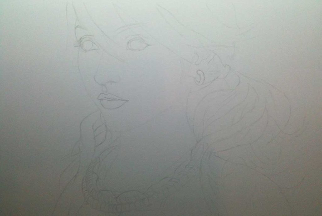 Realistic Pencil Drawing of Vanille from the video game Final Fantasy XIII, by Transgender Artist Sophie Lawson