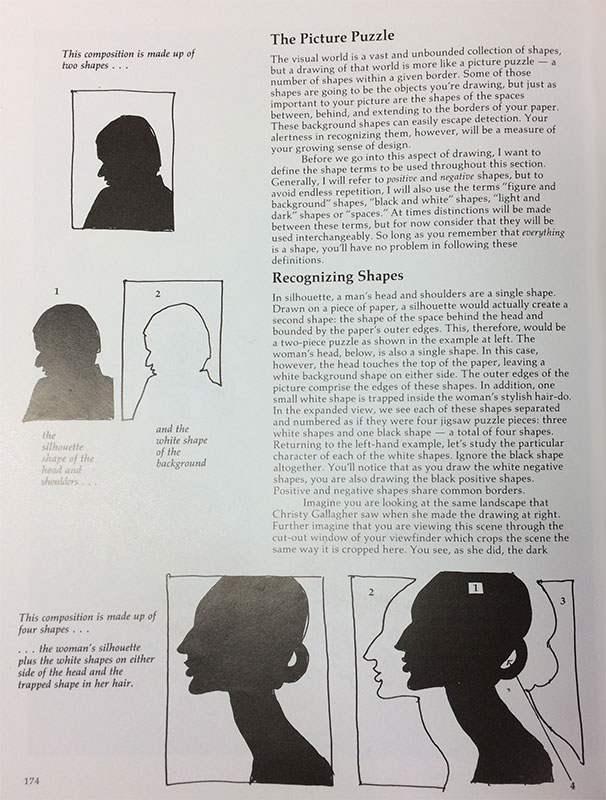 Page 174 - Seeing and Drawing Trapped shapes, Keys to Drawing by Bert Dodson