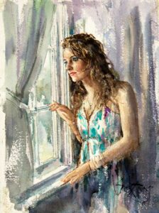 At The Window by Inspirational Artist Gordon King