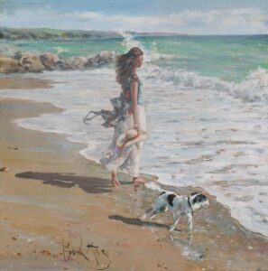 Beach Companion by Inspirational Artist Gordon King