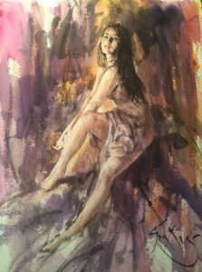 Evening Pose by Inspirational Artist Gordon King