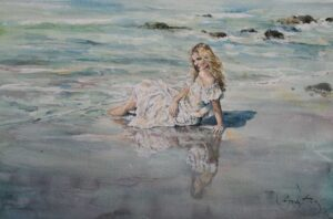 On a Wet Shore by Inspirational Artist Gordon King
