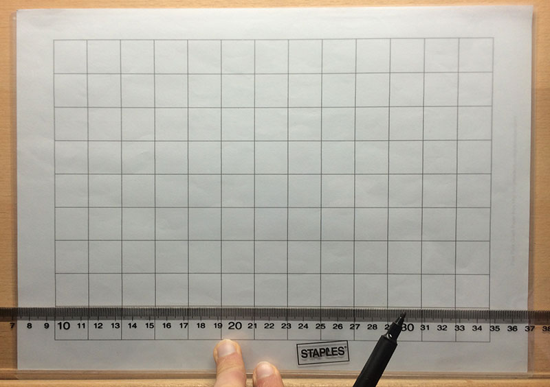 Step 3, Draw on your grid lines | How to Grid Portraits, by Artist Sophie Lawson