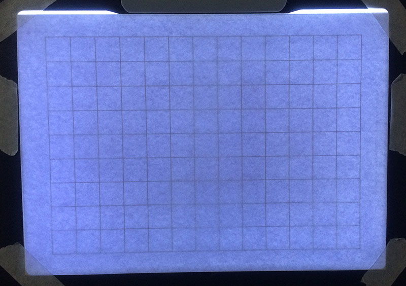 Step 6 - Line Up your Paper on the Lightbox   How to Grid Portraits, by Artist Sophie Lawson