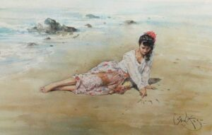 Letters in the Sand by Inspirational Artist Gordon King