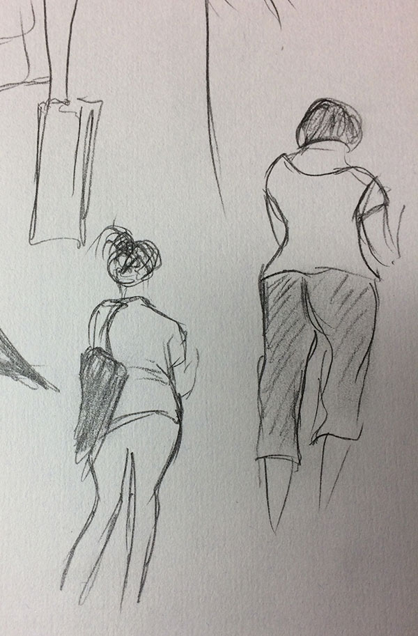 People Sketching, by Artist Sophie Lawson