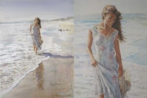 Reflections in the Sand by Inspirational Artist Gordon King
