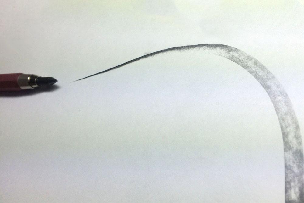 KOH-I-NOOR HARDTMUTH 6B CLUTCH PENCIL Line Quality, by Artist Sophie Lawson