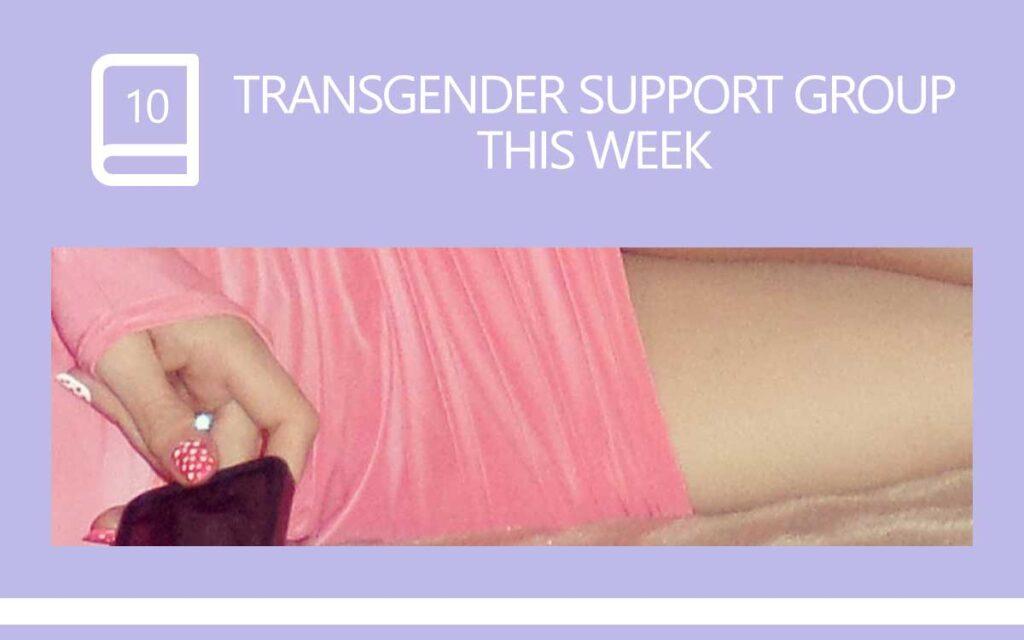 Transgender Support Group this week, with Transgender Model & Artist Sophie Lawson