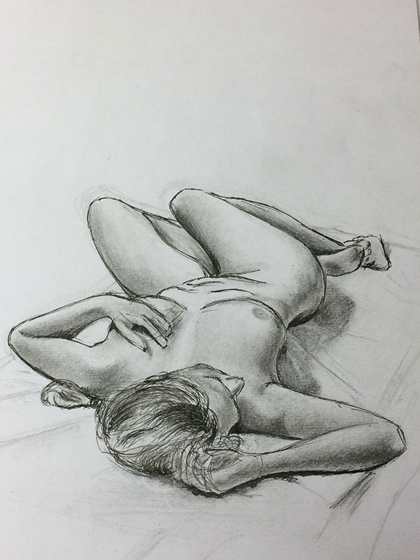 Recommended Drawing Exercise - Life Drawing by Artist Sophie Lawson