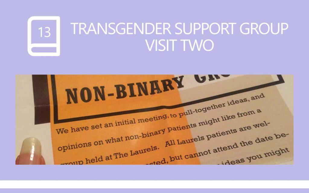 Transgender Support Group visit 2, with Transgender Model & Artist Sophie Lawson