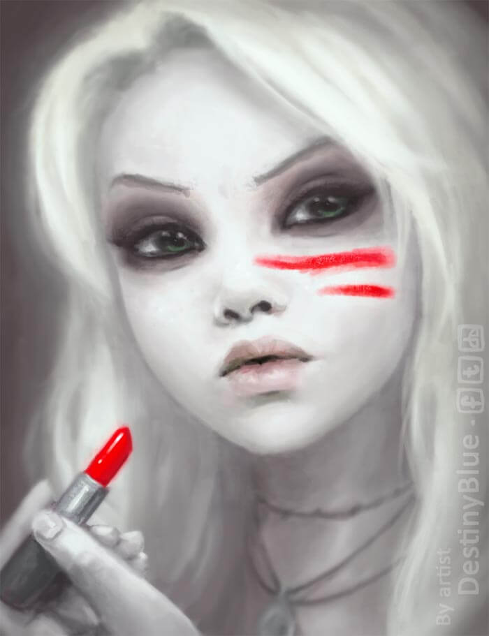 War Paint, Digitial Artwork by Artist DestinyBlue