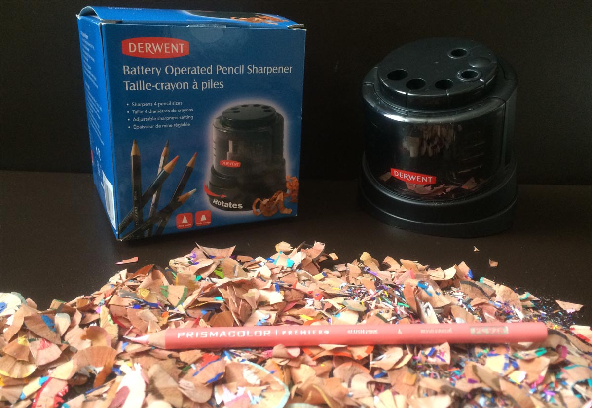 Derwent Battery Operated Pencil Sharpener, by Artist Sophie Lawson
