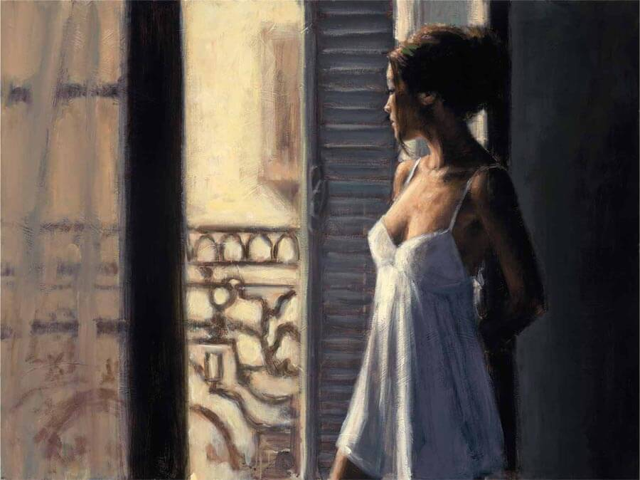 Balcony by Traditional Artist Fabian Perez