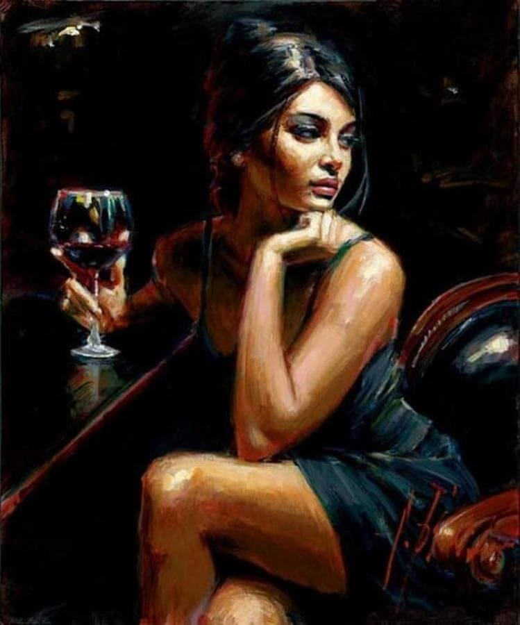 Saba by Traditional Artist Fabian Perez