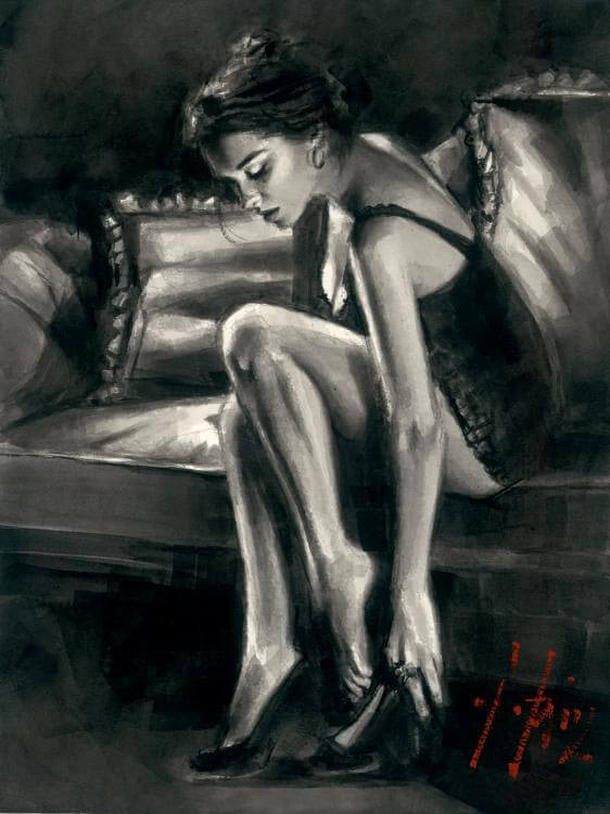 Study by Traditional Artist Fabian Perez