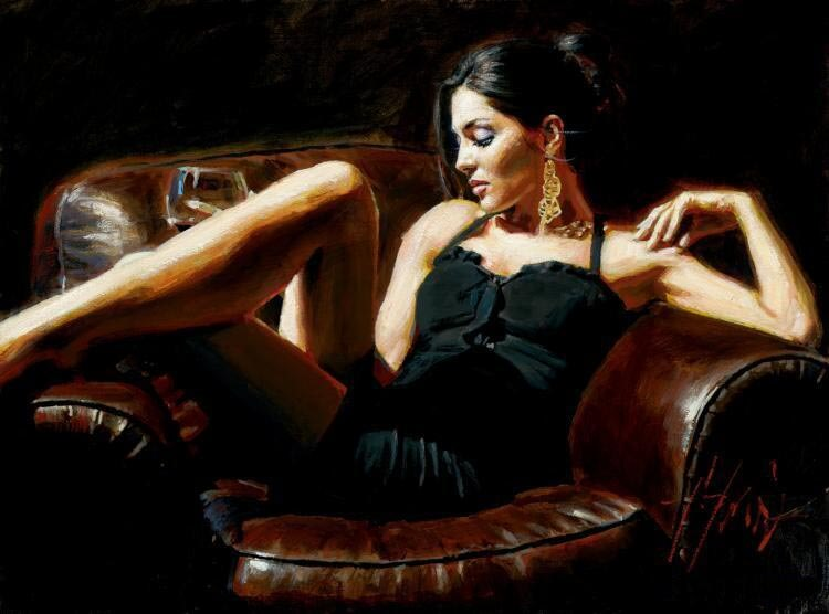 Tess by Traditional Artist Fabian Perez