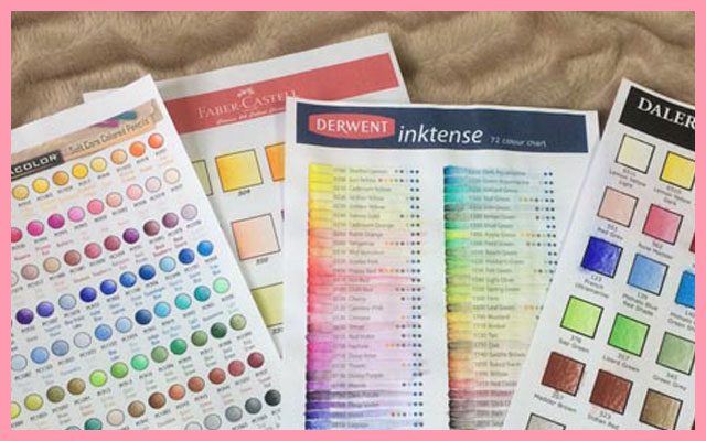 BLANK COLOURED PENCIL COLOUR CHARTS AND VALUE SCALES