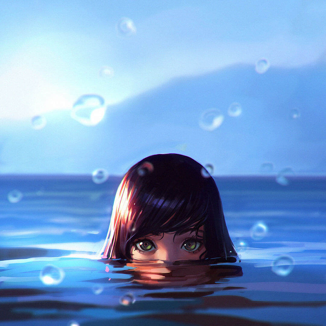 Sea by Digital Artist Ilya Kuvshinov
