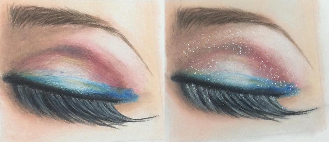 Zest It Pencil Blend Before and After Segment Drawing, by Artist Sophie Lawson