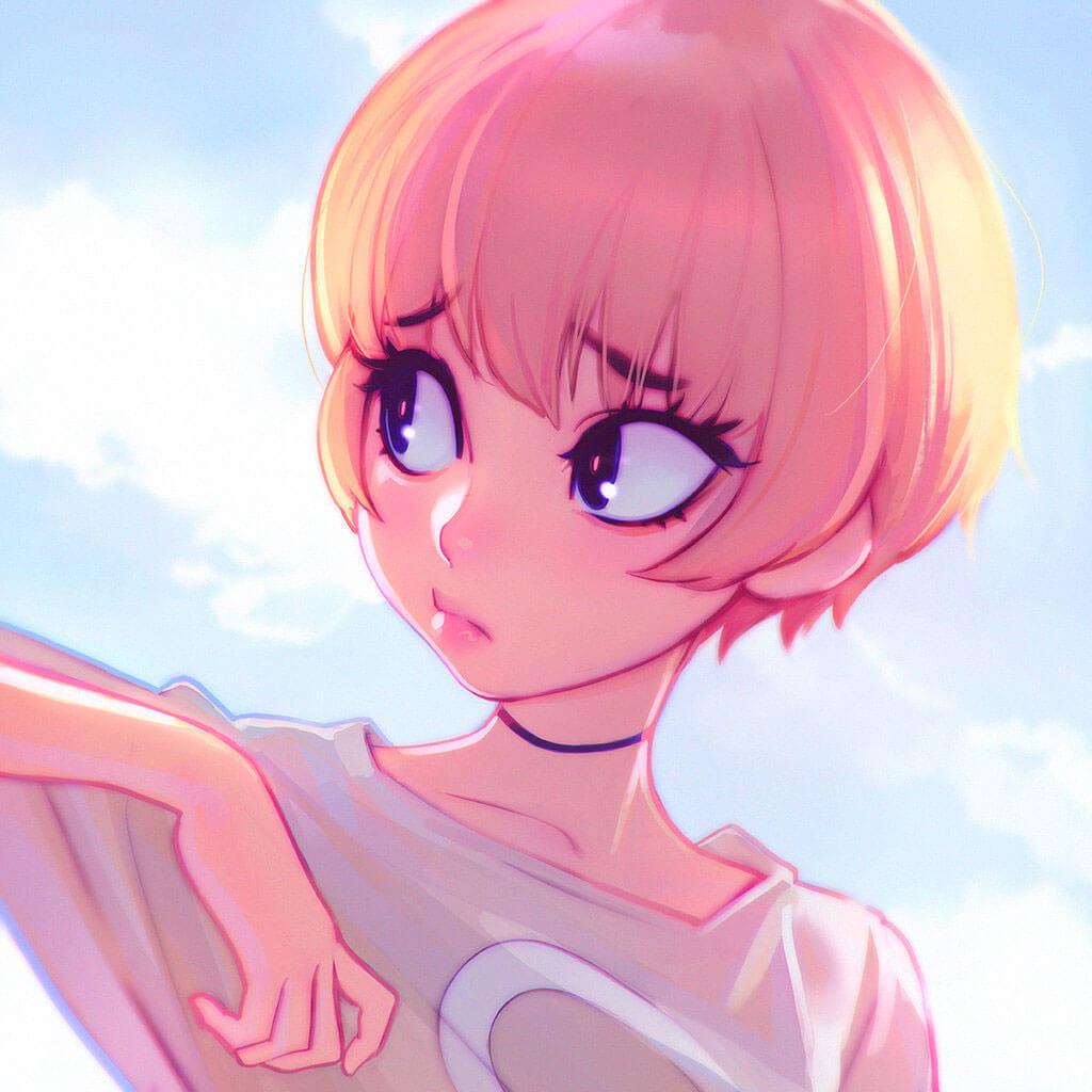 Clouds by Digital Artist Ilya Kuvshinov