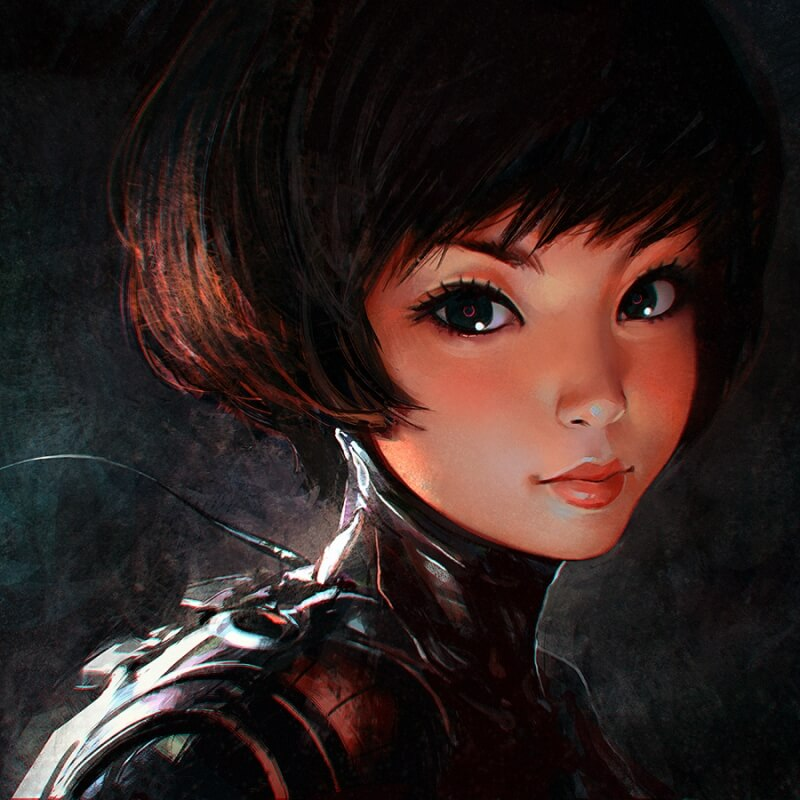Dust by Artist Ilya Kuvshinov