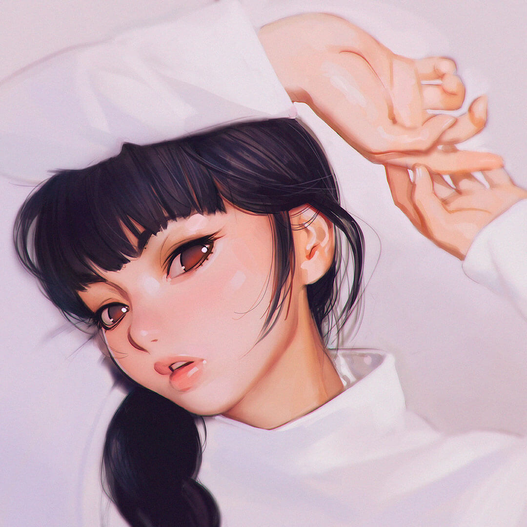 Hands by Digital Artist Ilya Kuvshinov
