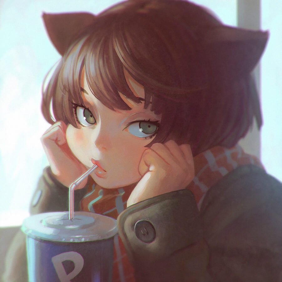 P-Cola by Digital Artist Ilya Kuvshinov