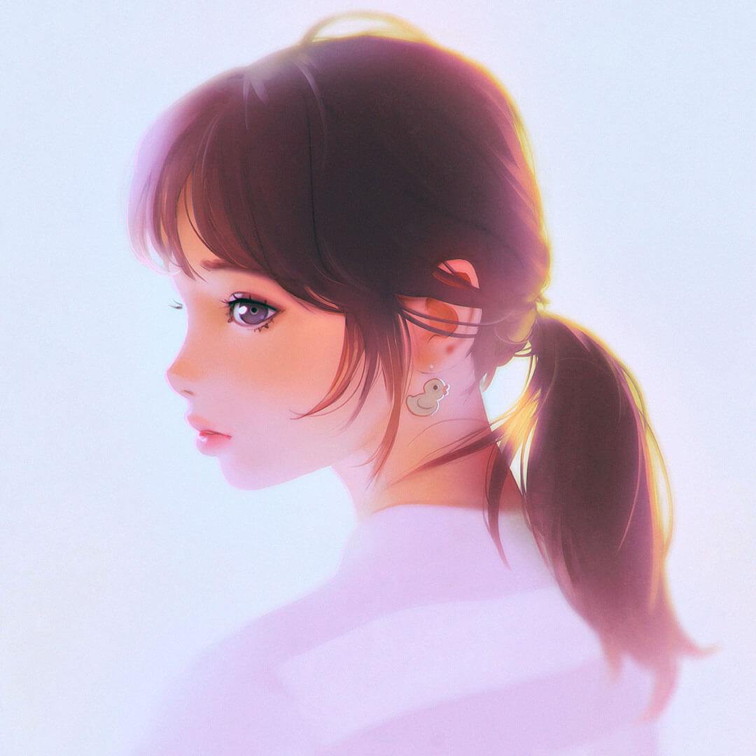 Ponytail by Digital Artist Ilya Kuvshinov