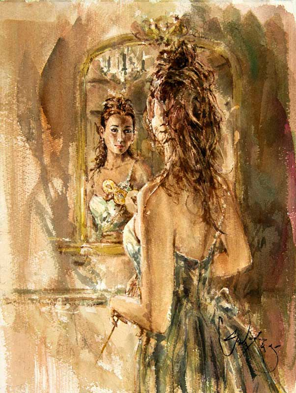 Girl in the Mirror by Artist Gordon King