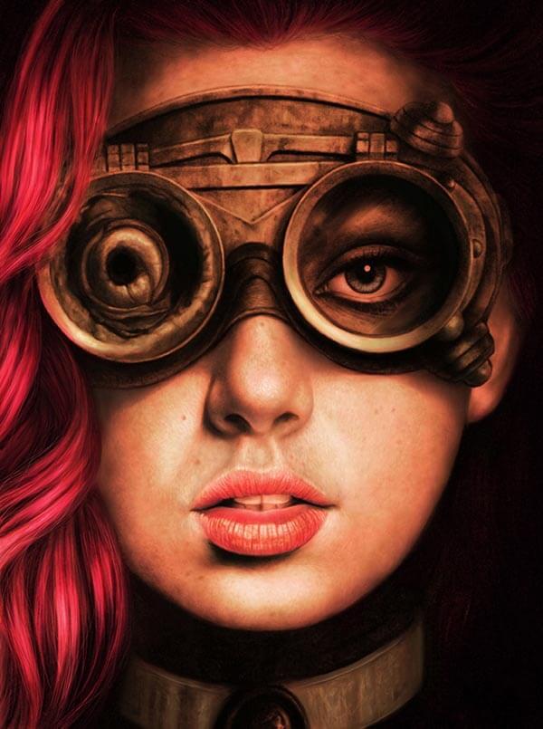 Steampunk Girl, by Digital Artist Duncan Gutteridge