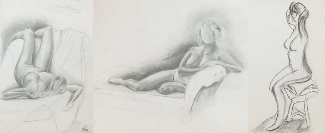 Life Drawing with a Nude Model, by Artist Sophie Lawson