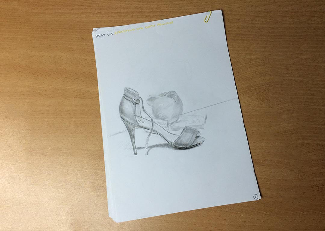Scribble Drawing Exercise : Sketching drawing lessons