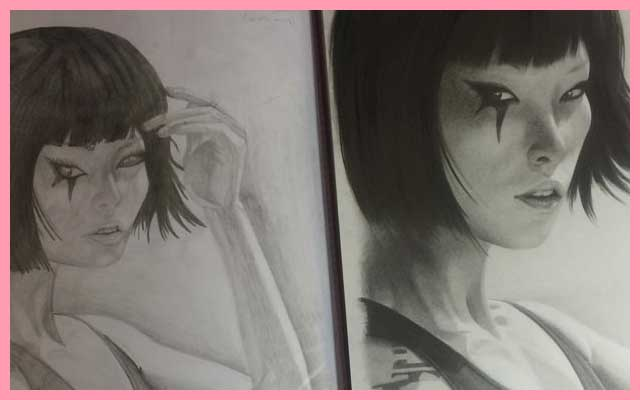 Faith From Mirror's Edge Pencil Drawing -One Year Since I started Drawing