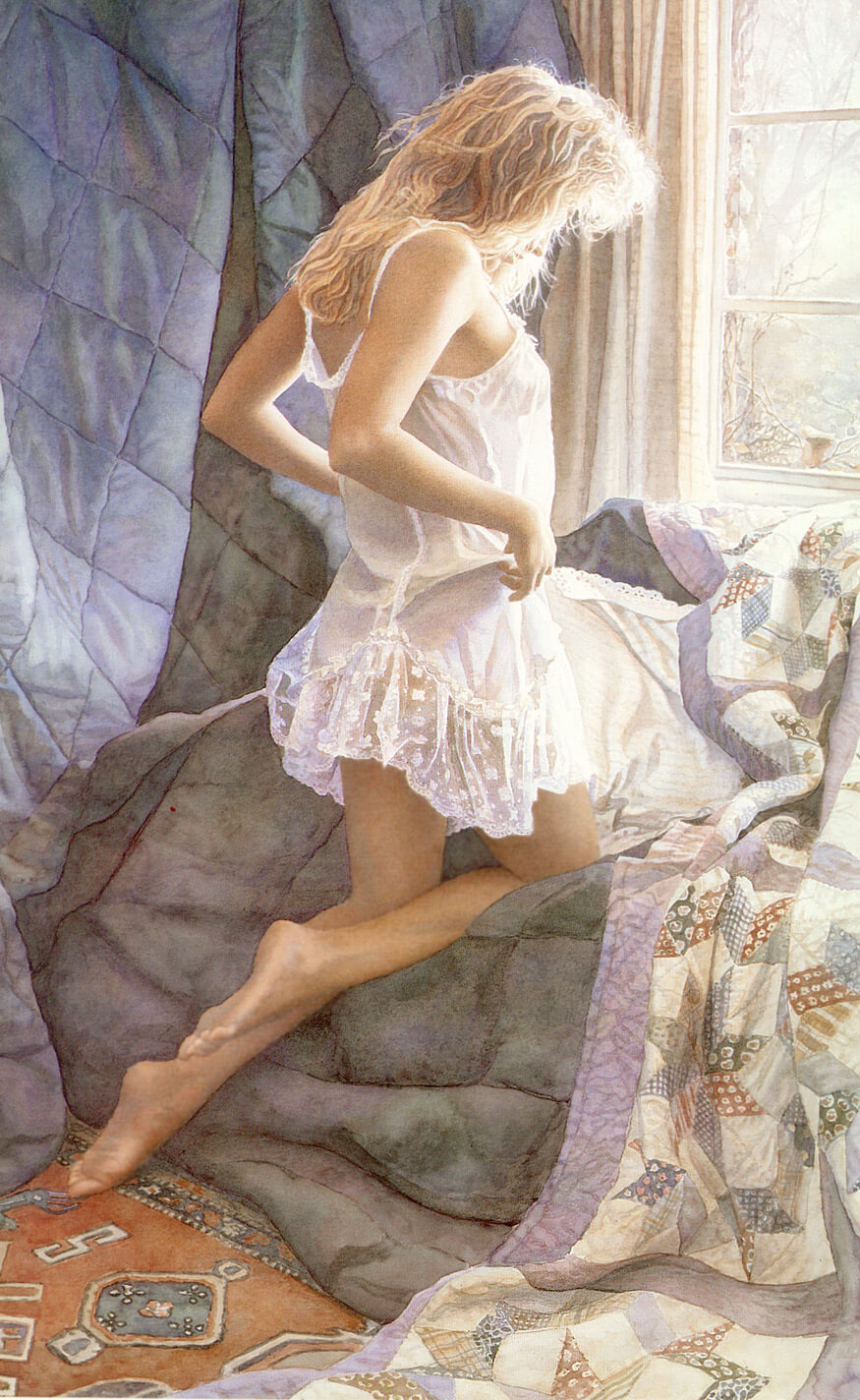 A Winters Day, by Traditional Artist Steve Hanks