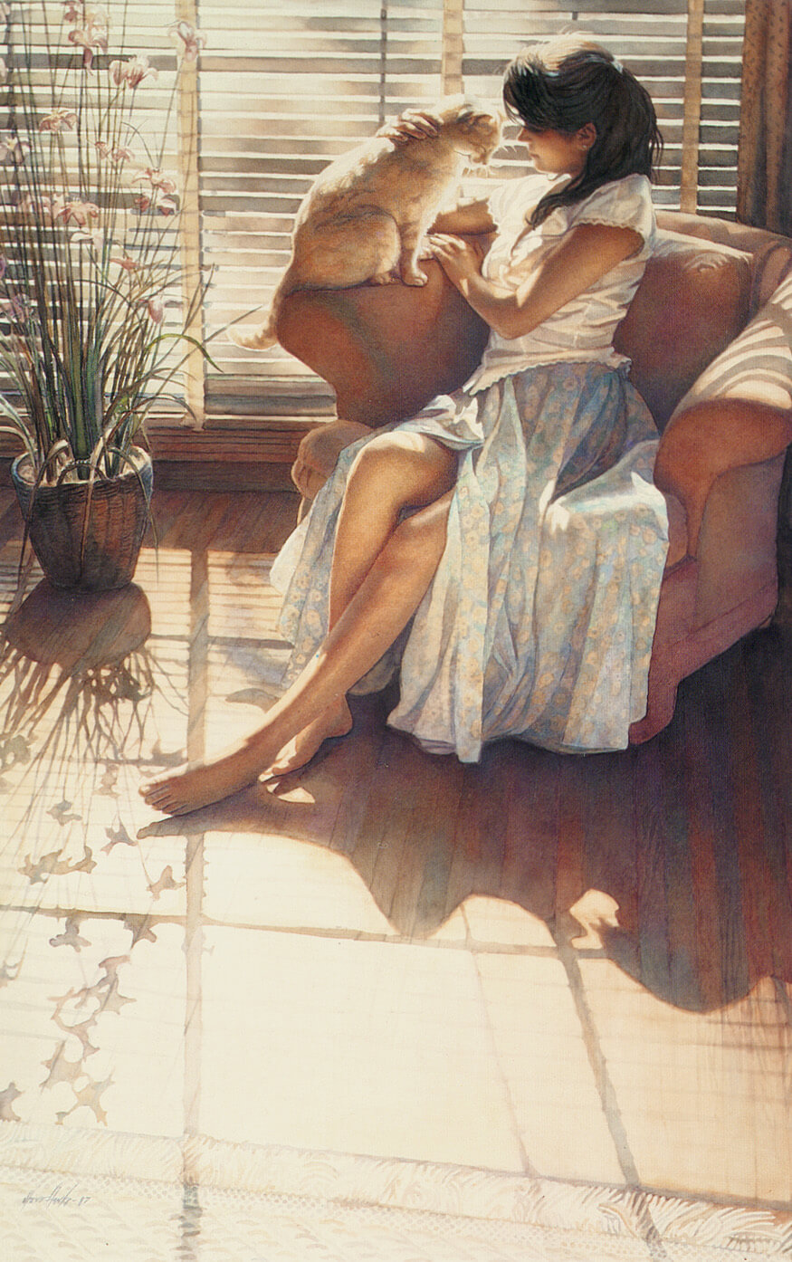 Ashley and Clyde, by Traditional Artist Steve Hanks