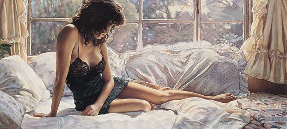 Black Lace, by Traditional Artist Steve Hanks