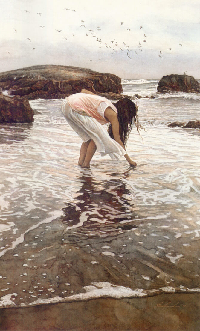 Conferring with the Sea, by Traditional Artist Steve Hanks