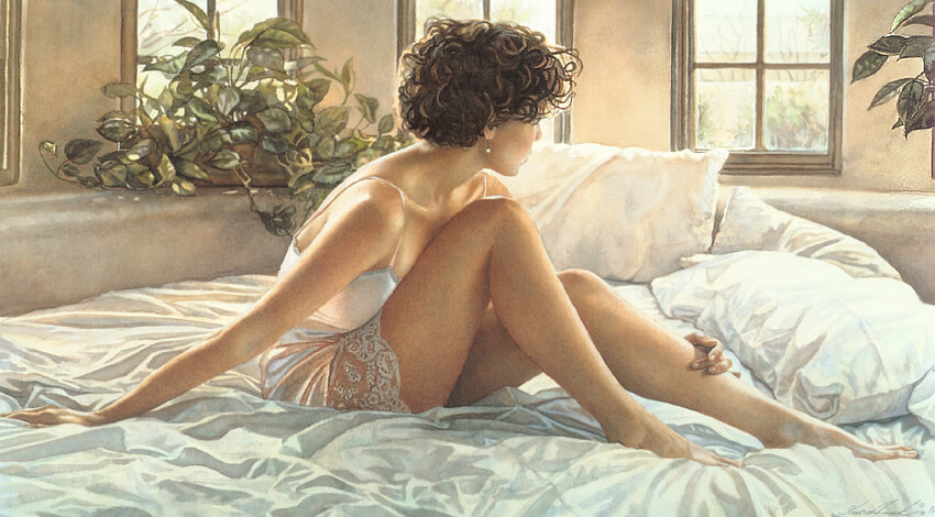Southwestern Bedroom, by Traditional Artist Steve Hanks