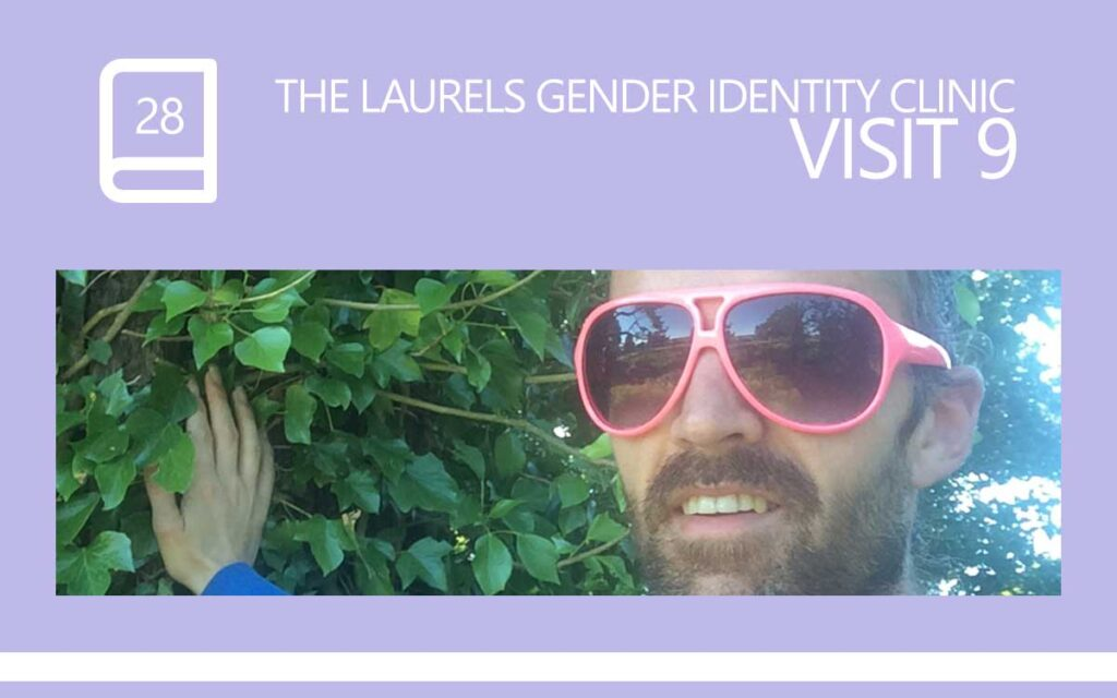 The Laurels Gender Identity Clinic Visit 9 - Lets Talk about Anxiety, with Transgender Model & Artist Sophie Lawson Pink Sunglasses