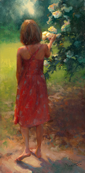 Inspirational Oil Painting Artwork entitled A Silent Conversation, by Artist John Lasater