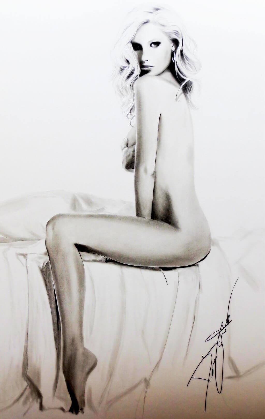 Inspirational Pencil Artwork entitled Jenn, by Artist Dave Lukas