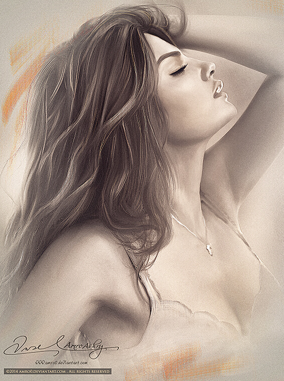 Inspirational Digital Artwork entitled The Beauty of a Woman 4, by Artist Amro0