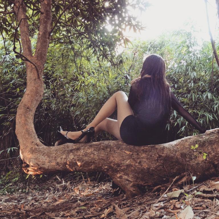Little Black Dress with Black Heels 01