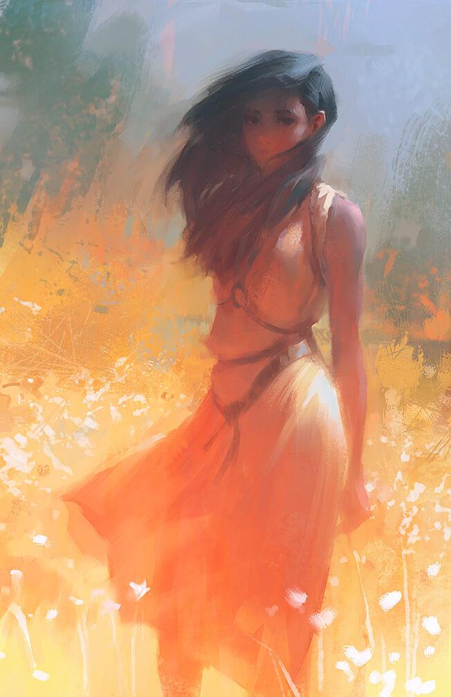 Digital Art BLAZE by Artist LANE BROWN