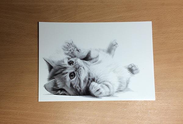 Drawing of Miranda Kerr Postcard - Newsletter Prize, by Transgender Artist Sophie Lawson