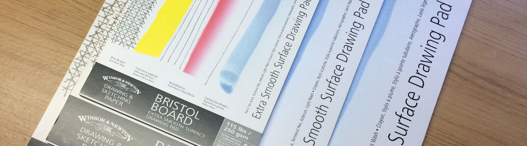 Winsor & Newton Extra Smooth Surface Drawing Pad Bristol Board - One of Artist Sophie Lawson's Recommended Tools