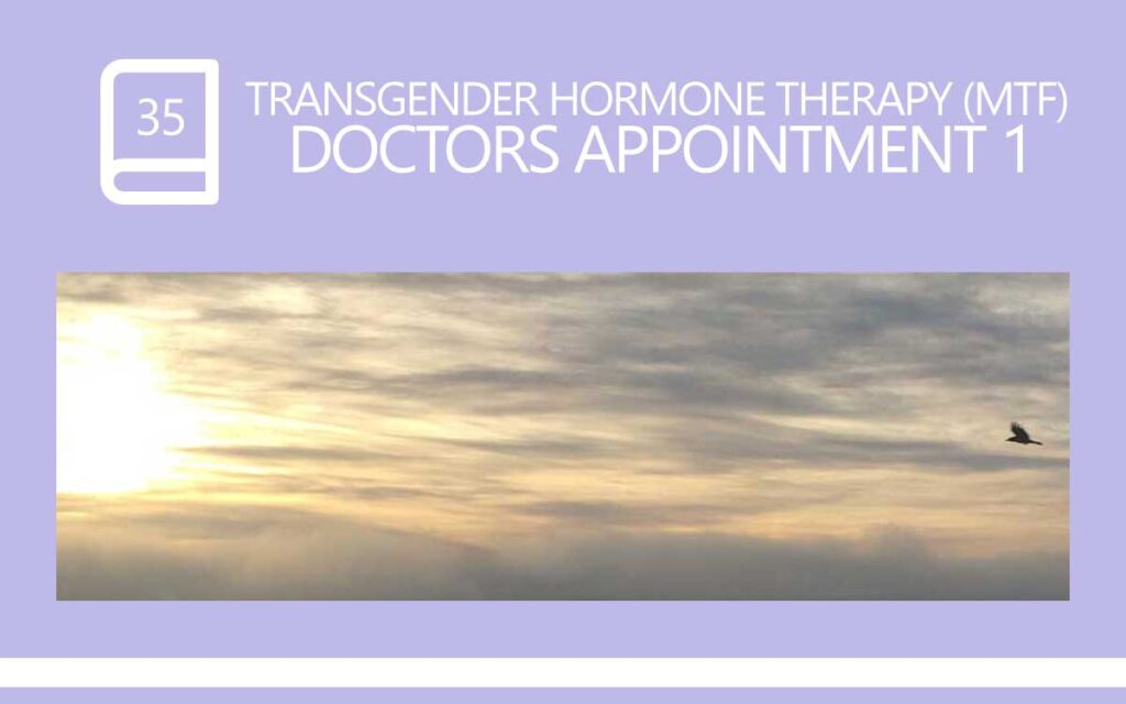 Transgender hormone therapy (Male to Female) Gender Clinic Doctor Appointment 1, with Transgender Model & Artist Sophie Lawson