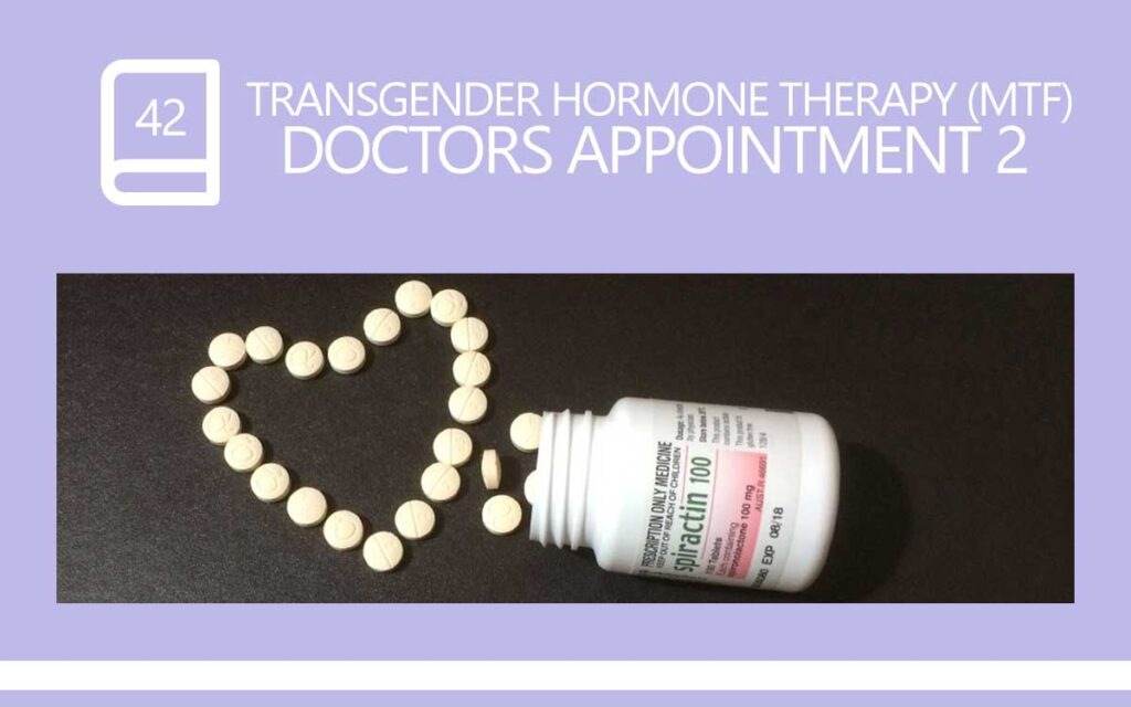 Transgender hormone therapy (Male to Female) Gender Clinic Doctor Appointment 2, with Transgender Model & Artist Sophie Lawson