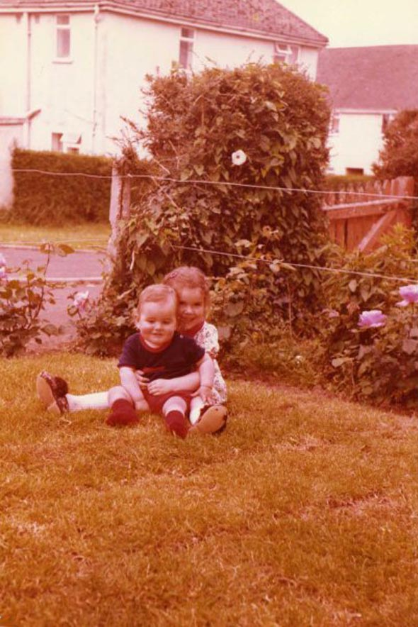 Me and my Sister as little kids, sadly, I'm not the one in the dress, by Transgender Artist Sophie Lawson